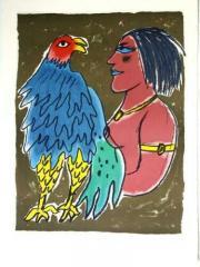 Oiseau blue, avec femme