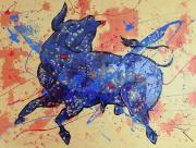 Toro Azul Y Oro
