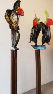 Sharp Men with Strange Birds