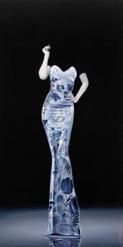 Dutch blue dress